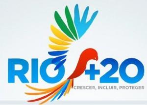 Logo di libertà e serenità realizzato per l'evento mondiale RIO+20